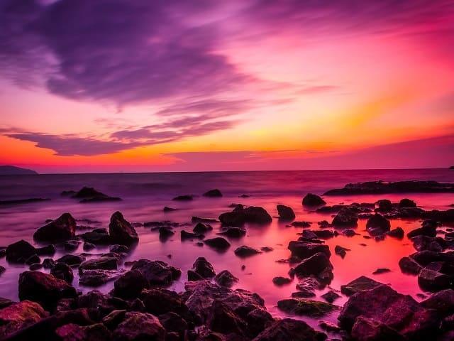 aforismi sul mare al tramonto