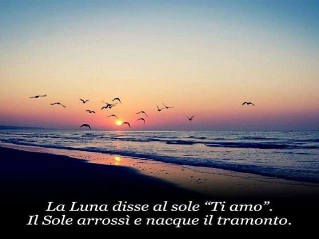 frasi sul tramonto e amore