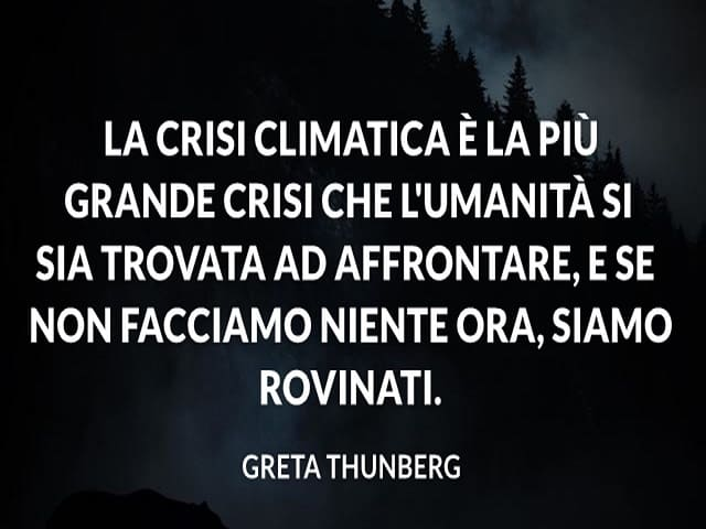 frasi sull'ambiente Greta