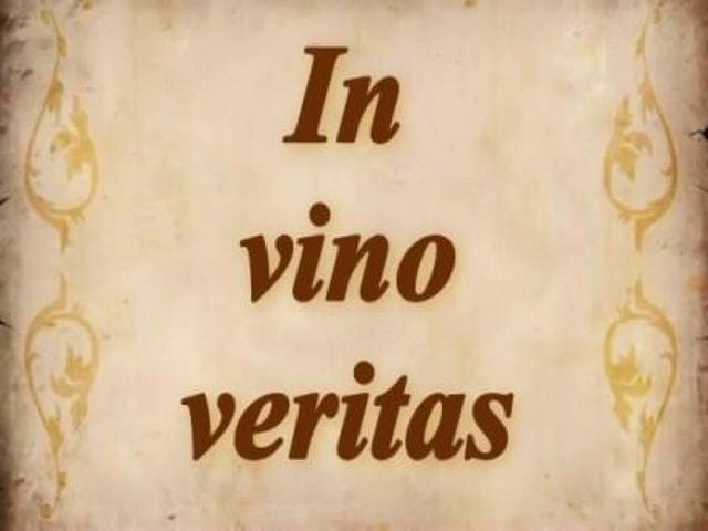 In vino veritas frasi