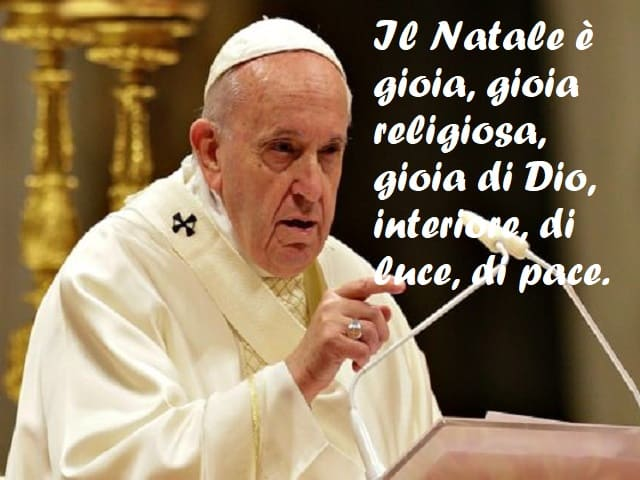 frasi di papa francesco sul natale